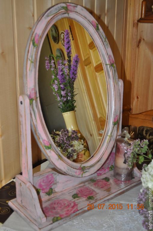 """Зеркала ручной работы. Ярмарка Мастеров - ручная работа. Купить Зеркало """"Души моей"""". Handmade. Бледно-розовый, натуральное дерево"""
