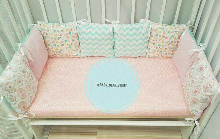 Как сделать бортики подушки в кроватку