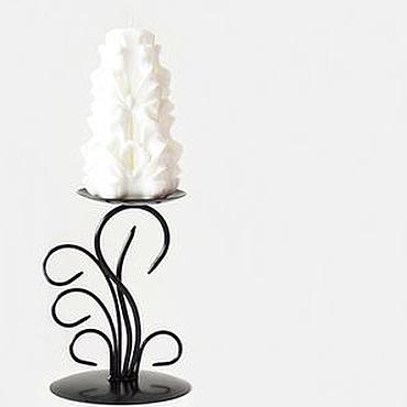 Свадебный салон ручной работы. Ярмарка Мастеров - ручная работа Резная свеча - белый цвет - свечи резные ручной работы - Белым бело. Handmade.