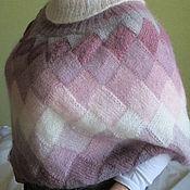 Одежда ручной работы. Ярмарка Мастеров - ручная работа Пончо -трансформер  Сиреневый туман (накидка осень зима кид мохер). Handmade.