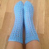 Аксессуары ручной работы. Ярмарка Мастеров - ручная работа вязаные женские носки. Handmade.
