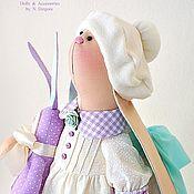Куклы и игрушки ручной работы. Ярмарка Мастеров - ручная работа Мишель. Зайка ванильно - лавандовая, игрушка текстильная интерьерная. Handmade.