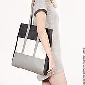 Сумки и аксессуары handmade. Livemaster - original item Черная сумка шоппер Charisma Серая сумка на плечо Тоут Тоте Tote. Handmade.