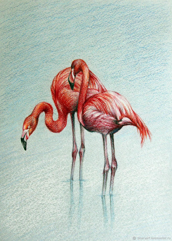 Animal Painting Handmade Livemaster Figure Pink Flamingo