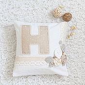 Для дома и интерьера ручной работы. Ярмарка Мастеров - ручная работа Именная подушечка. Handmade.
