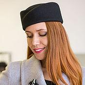 Аксессуары handmade. Livemaster - original item Hat-forage cap Elegance. Color black. Handmade.