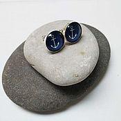 Украшения handmade. Livemaster - original item Earrings silver Anchor. Handmade.