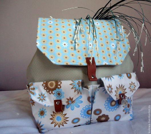 """Рюкзаки ручной работы. Ярмарка Мастеров - ручная работа. Купить рюкзак """"Летнее утро"""", сумка, портфель, хлопок. Handmade."""