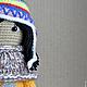 Вязание ручной работы. Заказать Мастер-класс. Цветная шапочка. Куколка. Теплые друзья (toylesson). Ярмарка Мастеров. Девочка