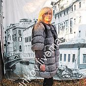 Одежда ручной работы. Ярмарка Мастеров - ручная работа Шубка из чернобурой лисы рукав 3/4. Handmade.