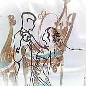 Свадебный салон ручной работы. Ярмарка Мастеров - ручная работа Подушечка для колец  В ритме вальса. Handmade.