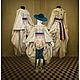 Карнавальные костюмы ручной работы. Ярмарка Мастеров - ручная работа. Купить Комплект для девочки.. Handmade. Кремовый, хлопковое кружево