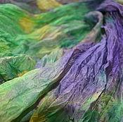 Аксессуары ручной работы. Ярмарка Мастеров - ручная работа большой шелковый шарф ручная окраска, натуральный шёлк. Handmade.