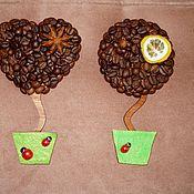 Для дома и интерьера ручной работы. Ярмарка Мастеров - ручная работа Кофейные магниты-топиарии. Handmade.