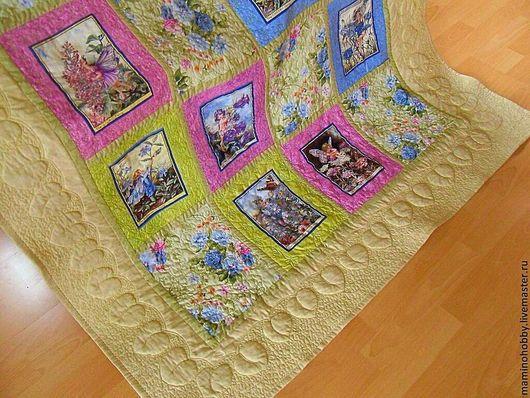 Текстиль, ковры ручной работы. Ярмарка Мастеров - ручная работа. Купить Одеяло плед лоскутное Феи цветов. Handmade. Одеяло