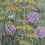 """Картины и панно ручной работы. Ярмарка Мастеров - ручная работа """"Огород"""" картина маслом. Handmade."""