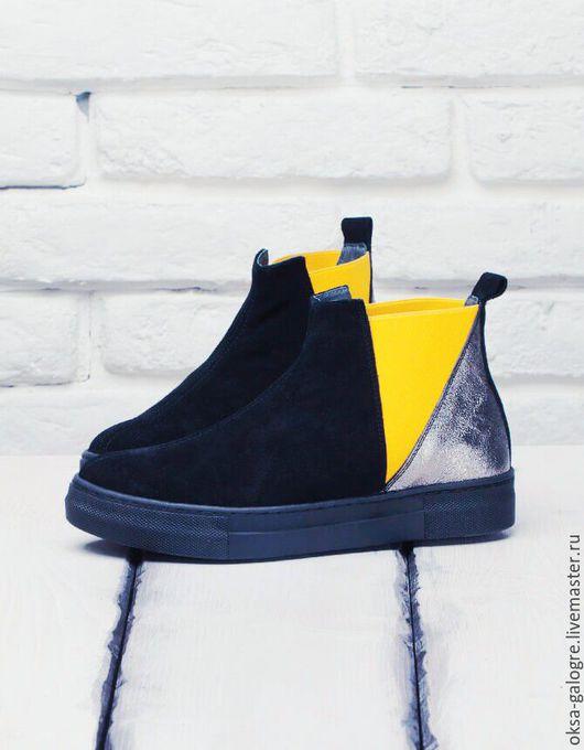 Обувь ручной работы. Ярмарка Мастеров - ручная работа. Купить Ботинки в спортивном стиле.. Handmade. Комбинированный, ботинки, спортивная обувь