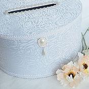 """Свадебный салон ручной работы. Ярмарка Мастеров - ручная работа Коробка для денег """"White bride"""". Handmade."""