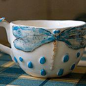 """Посуда ручной работы. Ярмарка Мастеров - ручная работа Чашка  """"Стрекоза"""". Handmade."""