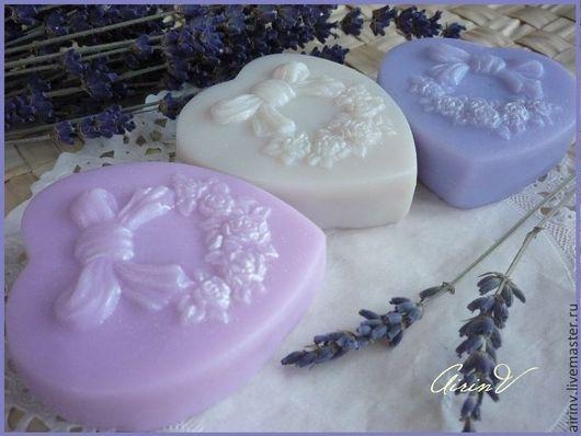 """Мыло ручной работы. Ярмарка Мастеров - ручная работа. Купить """" ВИНТАЖНОЕ СЕРДЦЕ"""" мини-мыло ручной работы. Handmade."""