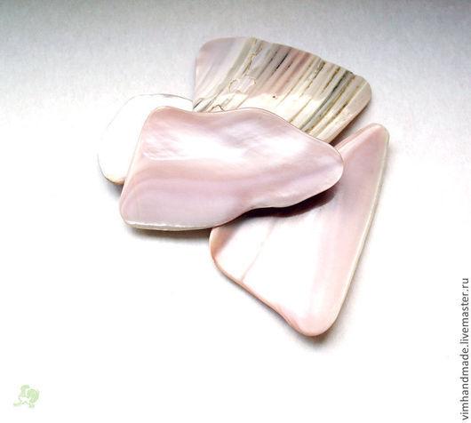 Другие виды рукоделия ручной работы. Ярмарка Мастеров - ручная работа. Купить Кусочки раковин розовой мидии. Handmade.