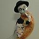 `КАРАБАС` Хэллоуинская шутка. Текстильная интерьерная кукла купить в подарок