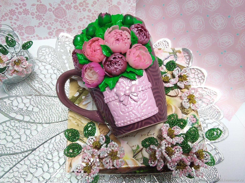 Кружка с декором из полимерной глины, Кружки и чашки, Саратов,  Фото №1
