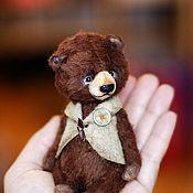 Куклы и игрушки ручной работы. Ярмарка Мастеров - ручная работа Шоколадный мишка. Choco-bear.  Коллекционный мишка-тедди. шоколад. Handmade.