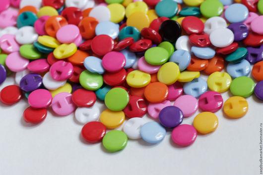 """Шитье ручной работы. Ярмарка Мастеров - ручная работа. Купить Пуговицы пластиковые цветные """"Радуга цвета"""" 13 мм.. Handmade."""