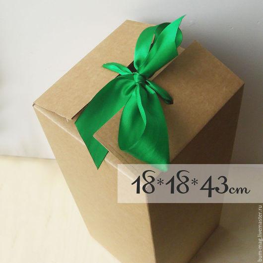 Упаковка ручной работы. Ярмарка Мастеров - ручная работа. Купить ВЫСОКАЯ коробка для куклы (18х18х43см). Handmade. Упаковка, бежевый