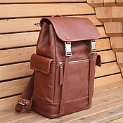 handmade. Livemaster - original item Men`s leather backpack