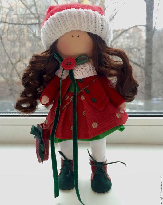Куклы тыквоголовки ручной работы. Ярмарка Мастеров - ручная работа. Купить Акция! Новогодняя девочка за 3000 руб вместо 4500 руб. Handmade.