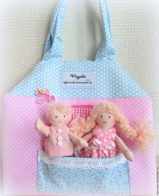 Сумочка домик для куколки выкройка купить Ольга Вайда Ярмарка мастеров ручная работа развивающая игрушка для девочек мастер-класс