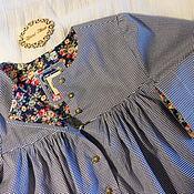 """Платья ручной работы. Ярмарка Мастеров - ручная работа Платье-рубашка для девочки хлопок """"И снова Люси"""". Handmade."""