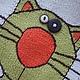 """Одежда унисекс ручной работы. Ярмарка Мастеров - ручная работа. Купить Детский джемпер """"Мартовский кот"""". Handmade. Рисунок, пуговицы"""