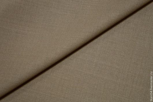 Шитье ручной работы. Ярмарка Мастеров - ручная работа. Купить Ткань костюмная гл/краш., 150 см, бежевый. Handmade. Бежевый