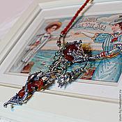 """Подвеска ручной работы. Ярмарка Мастеров - ручная работа Колье """"Русалочье Средиземноморское"""". Handmade."""