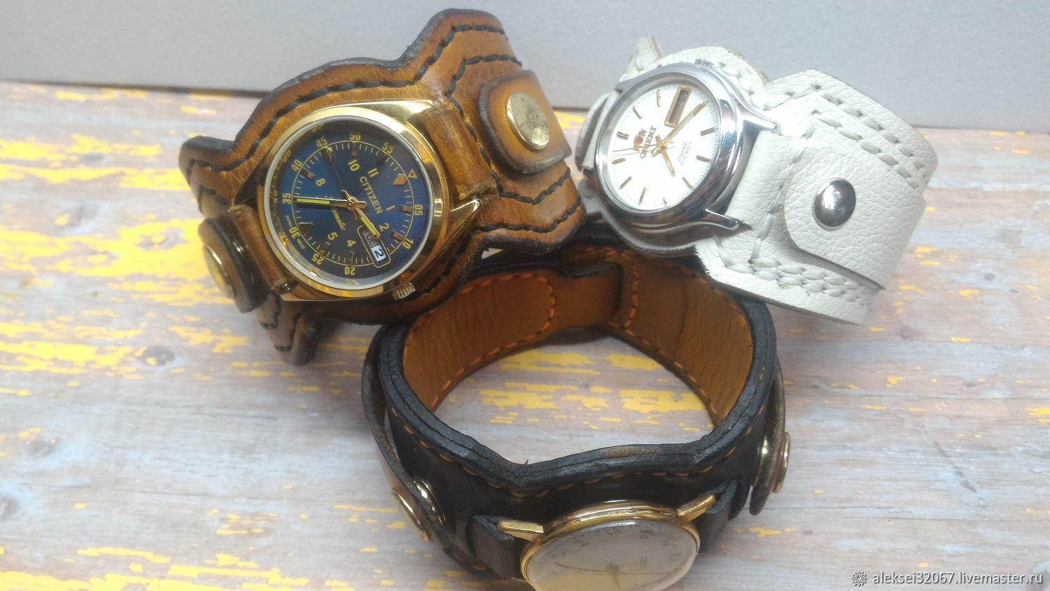 Leather strap for watches, Watch Straps, Smolensk,  Фото №1