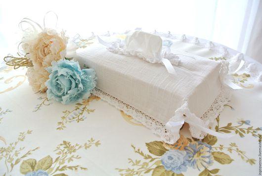 Салфетница текстильная с хлопковым кружевом Шебби Шик Прованс