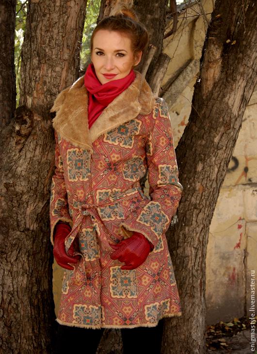 Верхняя одежда ручной работы. Ярмарка Мастеров - ручная работа. Купить Пальто Графиня. Handmade. Орнамент, весеннее, 50% полиамид