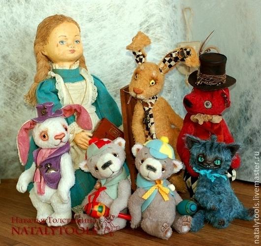 Мишки Тедди ручной работы. Ярмарка Мастеров - ручная работа. Купить Алиса в стране Чудес. Комплект работ по мотивам сказки. Handmade.