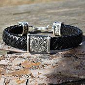 Украшения handmade. Livemaster - original item Leather bracelet men`s oberezhny Kolovrat. Handmade.