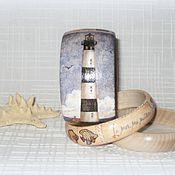 Украшения handmade. Livemaster - original item Beige set of bracelets made of wood voyage. Sea. Handmade.