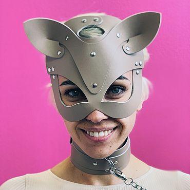 Одежда ручной работы. Ярмарка Мастеров - ручная работа Маска кошка кожаная. Handmade.