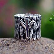 Украшения handmade. Livemaster - original item The ring with the rune of Algiz. Handmade.