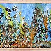 Картины и панно ручной работы. Ярмарка Мастеров - ручная работа Флористические коллажи. Handmade.