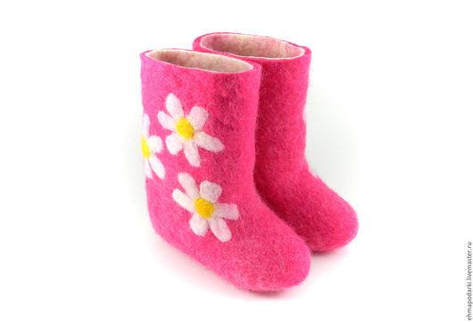 Обувь ручной работы. Ярмарка Мастеров - ручная работа. Купить Валенки Ромашки. Handmade. Детские валенки, дизайнерские валенки, войлок