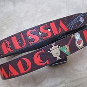 Аксессуары handmade. Livemaster - original item SOVIET RUSSIAN belt leather. Handmade.