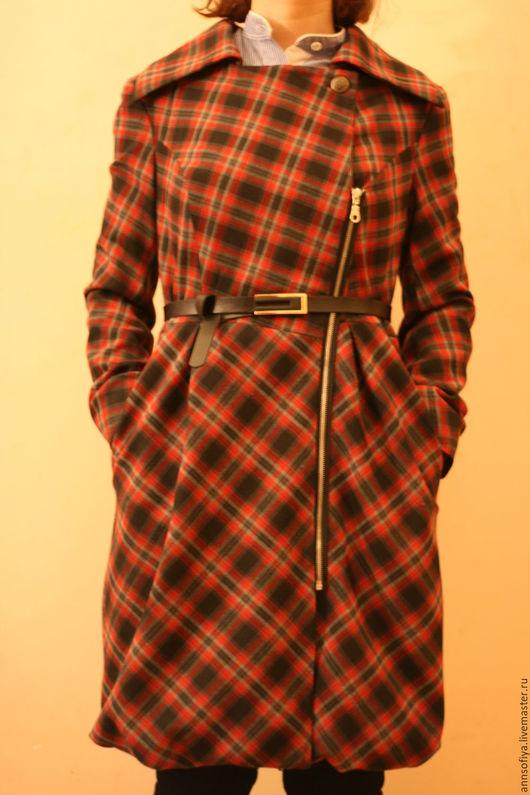 Верхняя одежда ручной работы. Ярмарка Мастеров - ручная работа. Купить Пальто демисезонное. Handmade. Комбинированный, пальто на подкладе