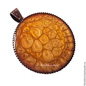 Украшения handmade. Livemaster - original item Pendant yellow-brown Sugar. Handmade.